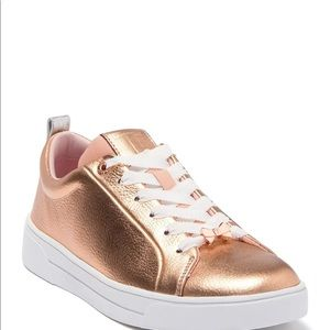 NWT Ted Baker Rose Gold Gielli Sneaker Size 9.5